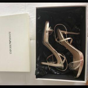 BRAND NEW Armani gold heels
